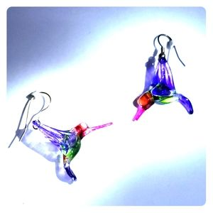 Free w/purchase hummingbird earrings